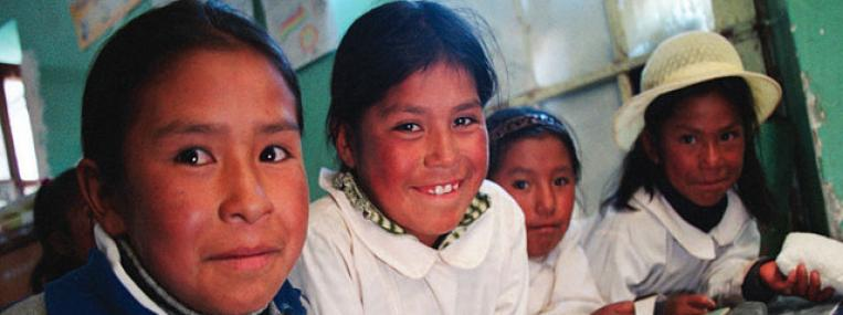 Photo of Bolivian school children by USDAgov via flickr