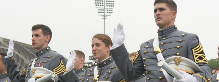 U.S. Military Academy graduates take the oath of office. (U.S. Army / Flickr)