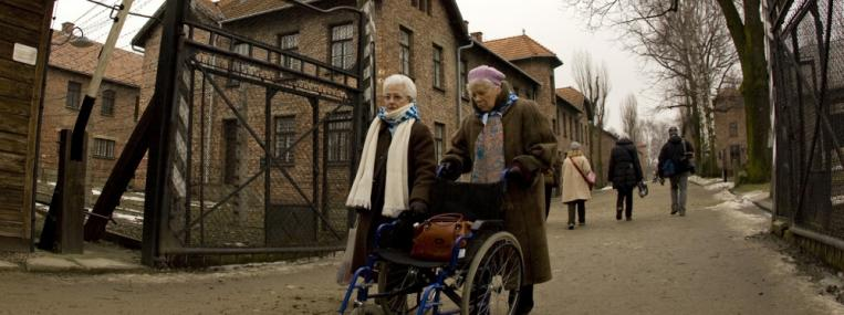 For concentration camp survivors, freely leaving the museum at Auschwitz, a place that once had no exit for Jews, can be an enormously symbolic experience. (REUTERS / PETER ANDREWS / CORBIS)