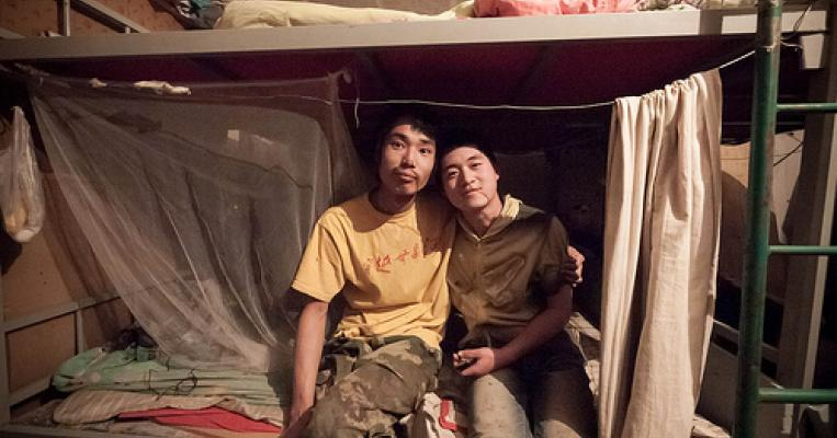 Photo of migrant workers in a dorm in Beijing by The Reboot via flickr
