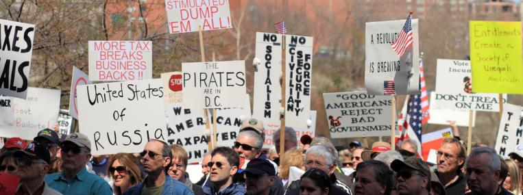 Photo of Tea Party protest by Sage Ross via Flickr