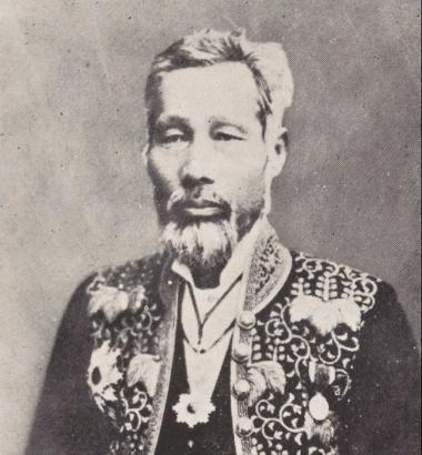 Photo of Japanese reformer Tsuda Mamichi via National Diet Library of Japan