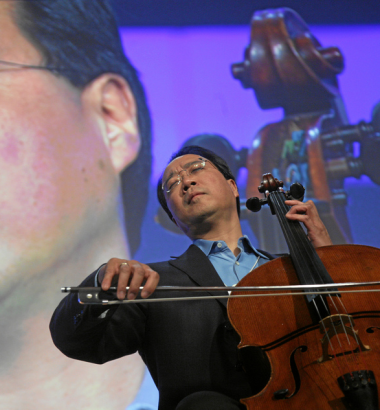 Renowned cellist Yo-Yo Ma started playing at the age of four. (Andy Mettler / World Economic Forum / flickr)