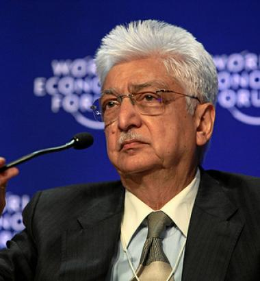 Photo of Wipro chairman Azim Premji at the 2009 Annual Meeting of the World Economic Forum in Davos, Switzerland by World Economic Forum via flickr