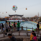 This is Iraq? Families celebrated the Persian New Year last March at a downtown park in the Kurdish Iraqi city of Erbil. (Newscom)
